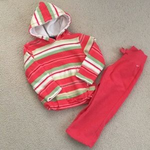The Children's Place 4T girl fleece outfit.